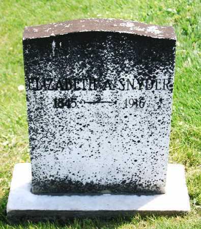 BILE SNYDER, ELIZABETH A. - Juniata County, Pennsylvania | ELIZABETH A. BILE SNYDER - Pennsylvania Gravestone Photos