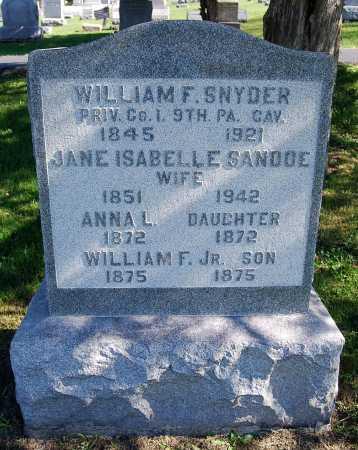 SNYDER, WILLIAM F. JR. - Juniata County, Pennsylvania | WILLIAM F. JR. SNYDER - Pennsylvania Gravestone Photos