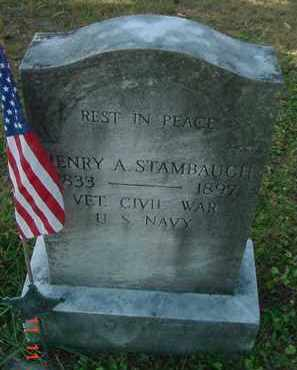 STAMBAUGH, HENRY A. - Juniata County, Pennsylvania   HENRY A. STAMBAUGH - Pennsylvania Gravestone Photos