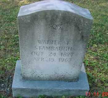 STAMBAUGH, WALTER F. - Juniata County, Pennsylvania | WALTER F. STAMBAUGH - Pennsylvania Gravestone Photos