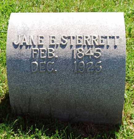 BLACK STERRETT, JANE E. - Juniata County, Pennsylvania | JANE E. BLACK STERRETT - Pennsylvania Gravestone Photos