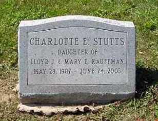 STUTTS, CHARLOTTE E. - Juniata County, Pennsylvania | CHARLOTTE E. STUTTS - Pennsylvania Gravestone Photos