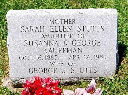 KAUFFMAN STUTTS, SARAH ELLEN - Juniata County, Pennsylvania | SARAH ELLEN KAUFFMAN STUTTS - Pennsylvania Gravestone Photos