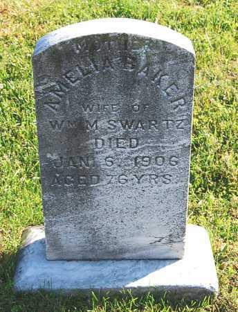 BAKER SWARTZ, AMELIA - Juniata County, Pennsylvania | AMELIA BAKER SWARTZ - Pennsylvania Gravestone Photos