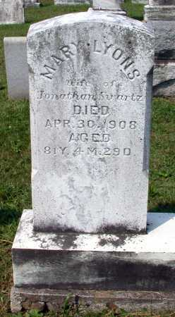 LYONS SWARTZ, MARY ANN - Juniata County, Pennsylvania | MARY ANN LYONS SWARTZ - Pennsylvania Gravestone Photos