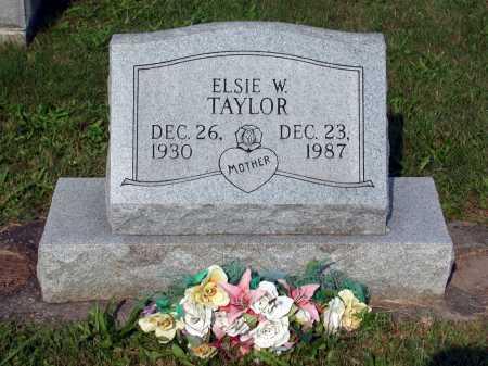 TAYLOR, ELSIE W. - Juniata County, Pennsylvania   ELSIE W. TAYLOR - Pennsylvania Gravestone Photos