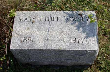 TOWSEY, MARY ETHEL - Juniata County, Pennsylvania | MARY ETHEL TOWSEY - Pennsylvania Gravestone Photos