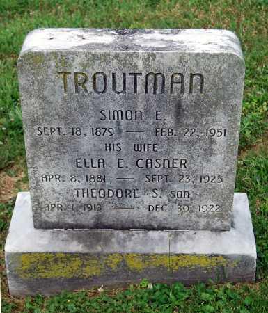 CASNER TROUTMAN, ELLA E. - Juniata County, Pennsylvania | ELLA E. CASNER TROUTMAN - Pennsylvania Gravestone Photos