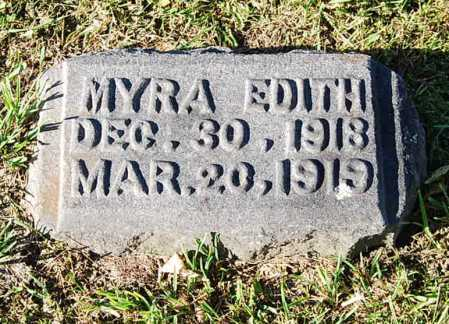 (UNKNOWN), MYRA EDITH - Juniata County, Pennsylvania   MYRA EDITH (UNKNOWN) - Pennsylvania Gravestone Photos