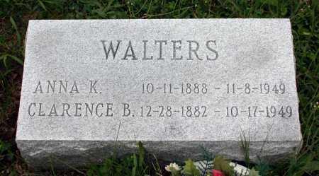 WALTERS, CLARENCE B. - Juniata County, Pennsylvania   CLARENCE B. WALTERS - Pennsylvania Gravestone Photos