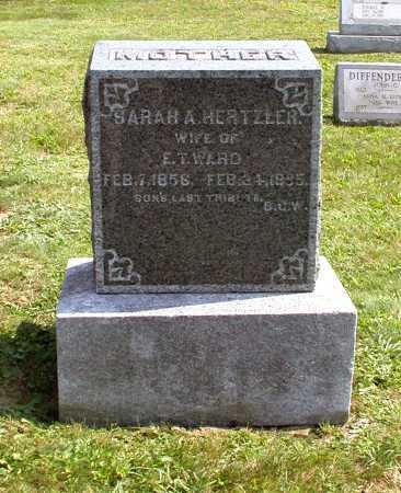 HERTZLER WARD, SARAH H. - Juniata County, Pennsylvania | SARAH H. HERTZLER WARD - Pennsylvania Gravestone Photos