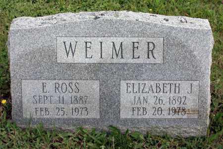 WEIMER, ELIZABETH JANE - Juniata County, Pennsylvania | ELIZABETH JANE WEIMER - Pennsylvania Gravestone Photos