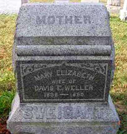 DIEM WELLER, MARY ELIZABETH - Juniata County, Pennsylvania | MARY ELIZABETH DIEM WELLER - Pennsylvania Gravestone Photos