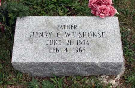WELSHONSE, HENRY C. - Juniata County, Pennsylvania | HENRY C. WELSHONSE - Pennsylvania Gravestone Photos