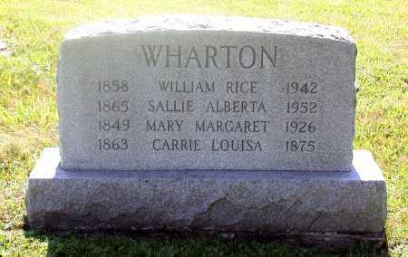WHARTON, MARY MARGARET - Juniata County, Pennsylvania   MARY MARGARET WHARTON - Pennsylvania Gravestone Photos