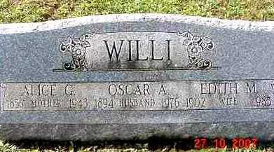 GRAHAM WILLI, ALICE - Juniata County, Pennsylvania | ALICE GRAHAM WILLI - Pennsylvania Gravestone Photos