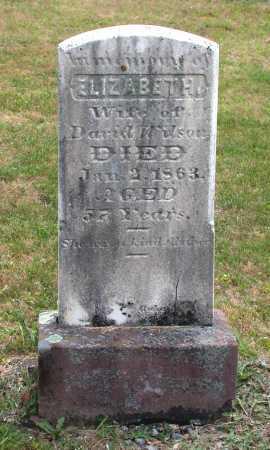 WILSON, ELIZABETH - Juniata County, Pennsylvania   ELIZABETH WILSON - Pennsylvania Gravestone Photos