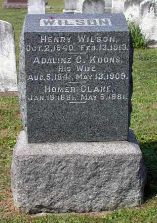 WILSON, HENRY - Juniata County, Pennsylvania | HENRY WILSON - Pennsylvania Gravestone Photos