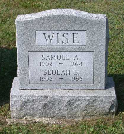 WISE, BEULAH B. - Juniata County, Pennsylvania | BEULAH B. WISE - Pennsylvania Gravestone Photos