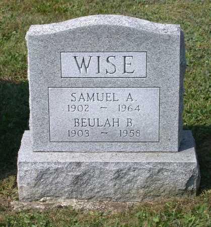 WISE, SAMUEL A. - Juniata County, Pennsylvania | SAMUEL A. WISE - Pennsylvania Gravestone Photos