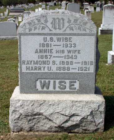 WISE, HARRY U. - Juniata County, Pennsylvania | HARRY U. WISE - Pennsylvania Gravestone Photos