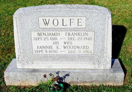 WOODWARD WOLFE, FANNIE E. - Juniata County, Pennsylvania   FANNIE E. WOODWARD WOLFE - Pennsylvania Gravestone Photos