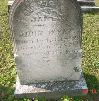 WYKE, JANE - Juniata County, Pennsylvania | JANE WYKE - Pennsylvania Gravestone Photos