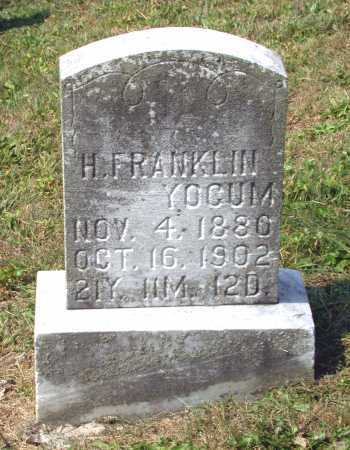 YOCUM, H. FRANKLIN - Juniata County, Pennsylvania | H. FRANKLIN YOCUM - Pennsylvania Gravestone Photos