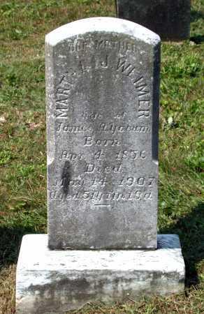 WEIMER YOCUM, MARTHA J. - Juniata County, Pennsylvania | MARTHA J. WEIMER YOCUM - Pennsylvania Gravestone Photos