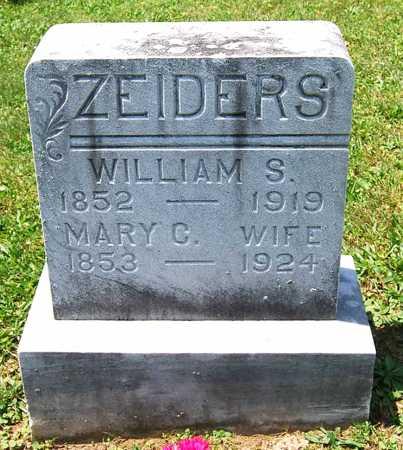 ZEIDERS, WILLIAM S. - Juniata County, Pennsylvania | WILLIAM S. ZEIDERS - Pennsylvania Gravestone Photos