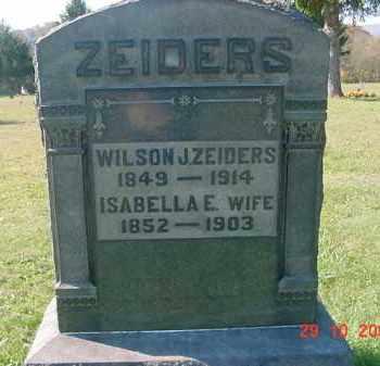 ZEIDERS, WILSON JEFFERSON - Juniata County, Pennsylvania | WILSON JEFFERSON ZEIDERS - Pennsylvania Gravestone Photos