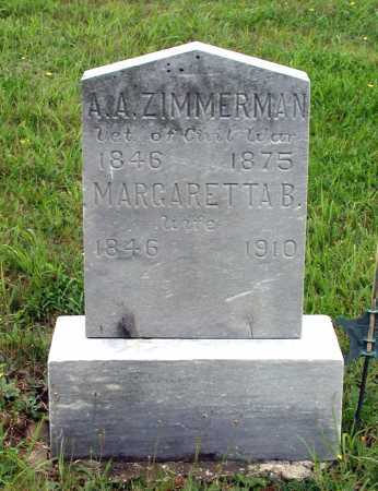 ZIMMERMAN, MARGARETHA B. - Juniata County, Pennsylvania | MARGARETHA B. ZIMMERMAN - Pennsylvania Gravestone Photos