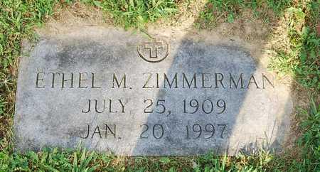ZIMMERMAN, ETHEL M. - Juniata County, Pennsylvania | ETHEL M. ZIMMERMAN - Pennsylvania Gravestone Photos