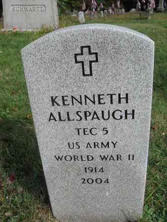 ALLSPAUGH (WW II), KENNETH - Lackawanna County, Pennsylvania | KENNETH ALLSPAUGH (WW II) - Pennsylvania Gravestone Photos