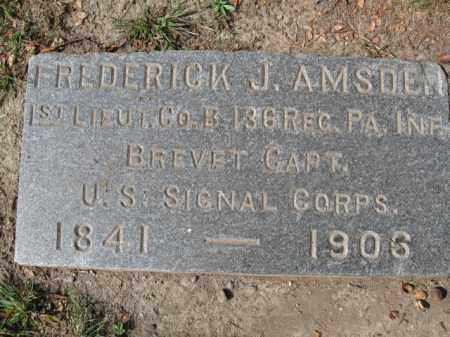 AMSDEN  (CW), 1ST LT.FREDERICK J. - Lackawanna County, Pennsylvania | 1ST LT.FREDERICK J. AMSDEN  (CW) - Pennsylvania Gravestone Photos
