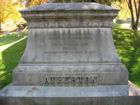 ATHERTON (CW), HENRY FOSTER - Lackawanna County, Pennsylvania | HENRY FOSTER ATHERTON (CW) - Pennsylvania Gravestone Photos
