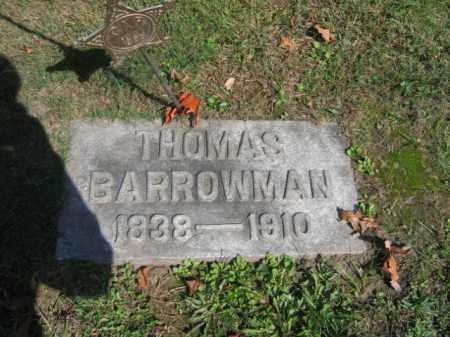 BARROWMAN (CW), THOMAS - Lackawanna County, Pennsylvania   THOMAS BARROWMAN (CW) - Pennsylvania Gravestone Photos
