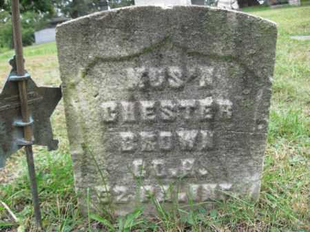 BROWN (CW), CORP.CHESTER - Lackawanna County, Pennsylvania | CORP.CHESTER BROWN (CW) - Pennsylvania Gravestone Photos