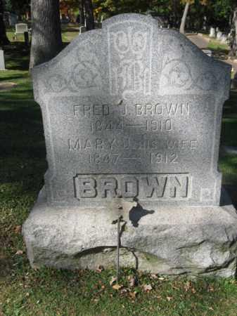 BROWN (CW), FRED J. - Lackawanna County, Pennsylvania | FRED J. BROWN (CW) - Pennsylvania Gravestone Photos