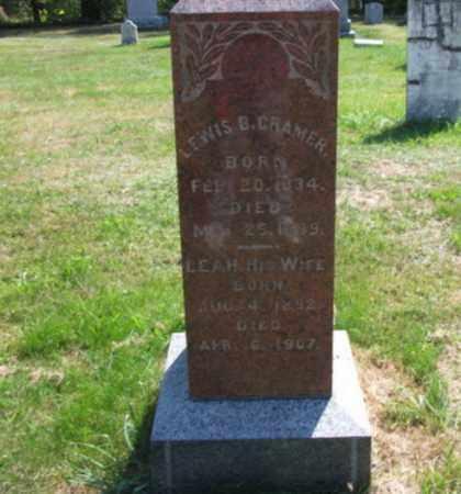 CRAMER (CW), LEWIS B. - Lackawanna County, Pennsylvania | LEWIS B. CRAMER (CW) - Pennsylvania Gravestone Photos
