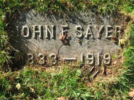 SAYER (CW), JOHN F. - Lackawanna County, Pennsylvania | JOHN F. SAYER (CW) - Pennsylvania Gravestone Photos