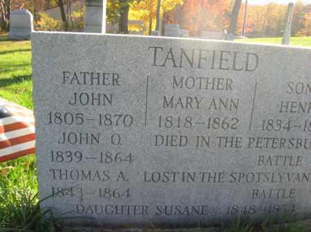 TANFIELD (CW), JOHN O. - Lackawanna County, Pennsylvania | JOHN O. TANFIELD (CW) - Pennsylvania Gravestone Photos