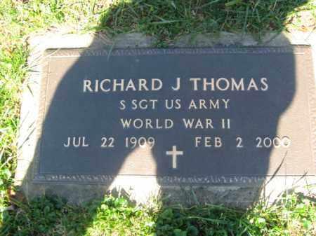THOMAS (WW I), RICHARD J. - Lackawanna County, Pennsylvania   RICHARD J. THOMAS (WW I) - Pennsylvania Gravestone Photos