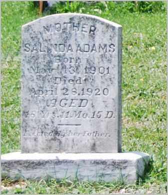 ADAMS, SALINDA - Lancaster County, Pennsylvania | SALINDA ADAMS - Pennsylvania Gravestone Photos