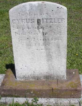 DITZLER, CYRUS - Lancaster County, Pennsylvania | CYRUS DITZLER - Pennsylvania Gravestone Photos