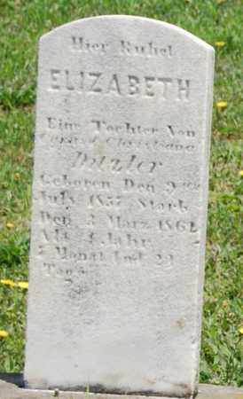 DITZLER, ELIZABETH - Lancaster County, Pennsylvania   ELIZABETH DITZLER - Pennsylvania Gravestone Photos