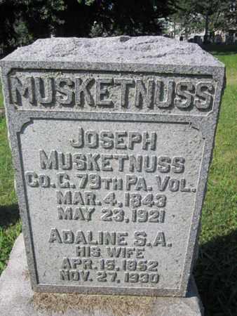 MUSKETNUSS (CW), JOSEPH - Lancaster County, Pennsylvania | JOSEPH MUSKETNUSS (CW) - Pennsylvania Gravestone Photos