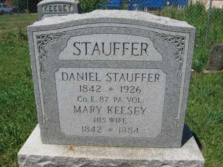 STAUFFER, DANIEL - Lancaster County, Pennsylvania | DANIEL STAUFFER - Pennsylvania Gravestone Photos