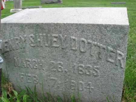 DOTTER, HENRY SHUEY - Lebanon County, Pennsylvania | HENRY SHUEY DOTTER - Pennsylvania Gravestone Photos