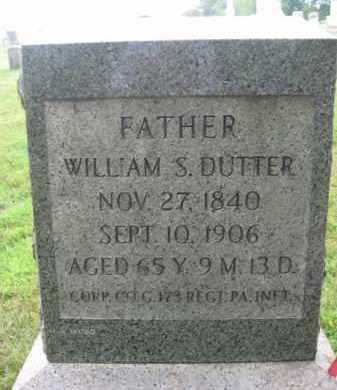 DUTTER (CW), WILLIAM S. - Lebanon County, Pennsylvania   WILLIAM S. DUTTER (CW) - Pennsylvania Gravestone Photos